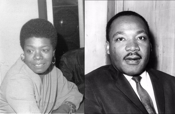 Maya Angelou and Martin Luther King, Jr.